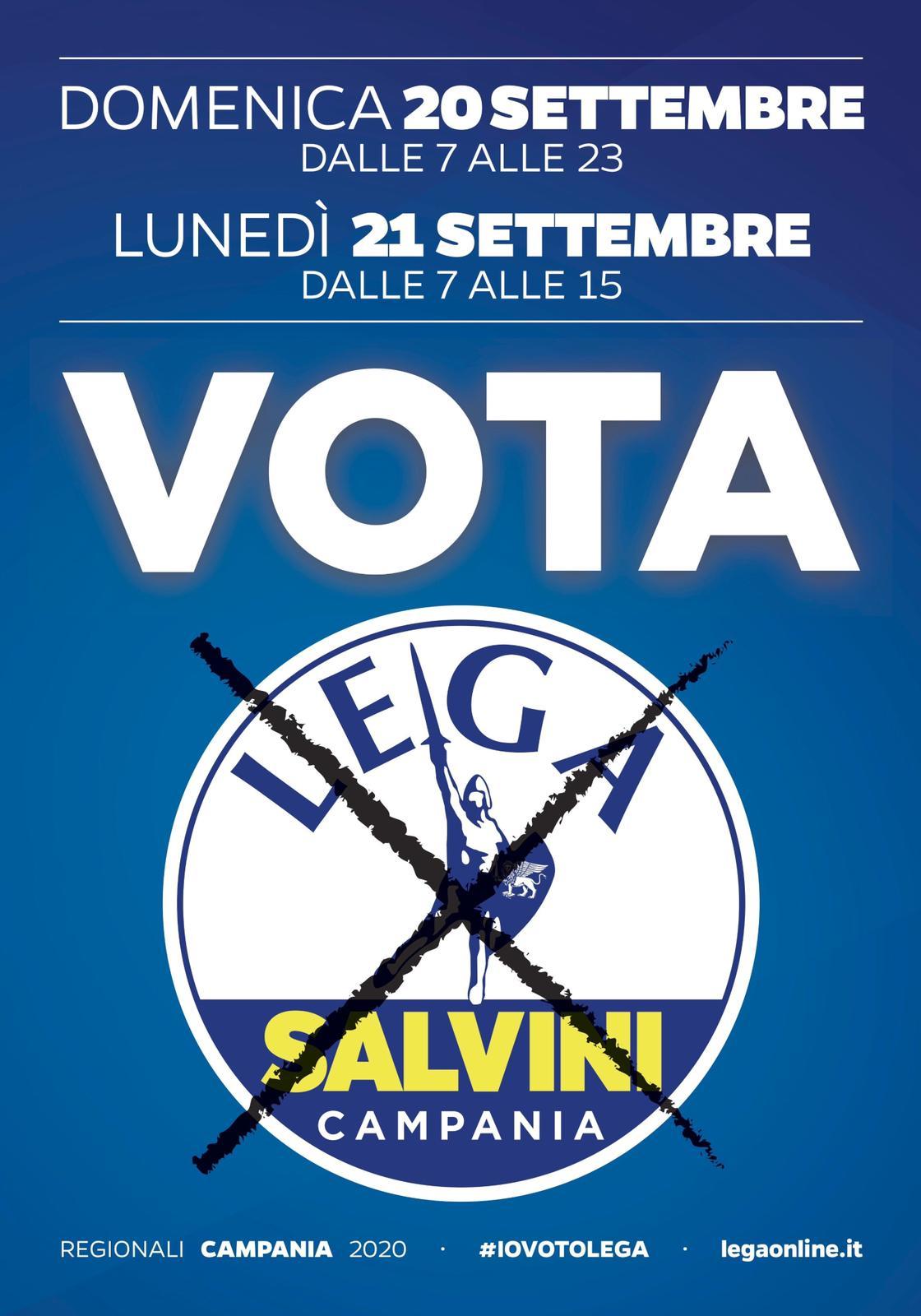 Domenica 20 settembre dalle 7 alle 23 e lunedì 21 settembre dalle 7 alle 15 VOTA LEGA! #IOVOTOLEGA